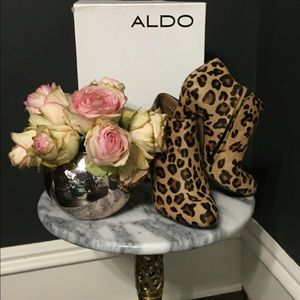 Perfect Summer Leopard Pony Hair Booties